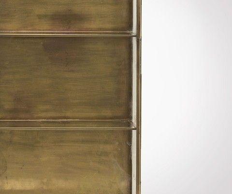 Étagère laiton porte vitrée style vintage GLADYS