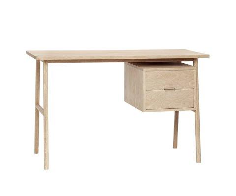 Bureau scandinave en bois 2 tiroirs BUMA
