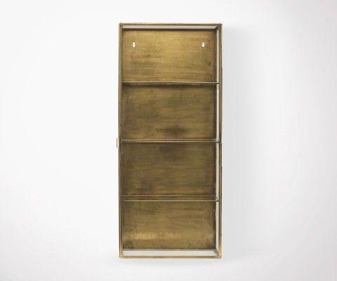 Vintage Style Cabinet Glass Brass GLADYS