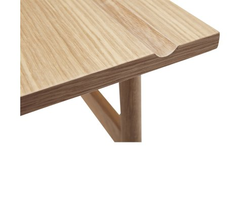 Bureau scandinave 120cm en bois de chêne clair MILATE