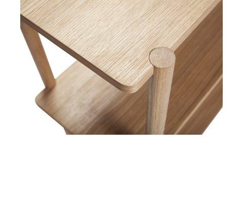 Petite étagère scandinave en bois clair TAXI