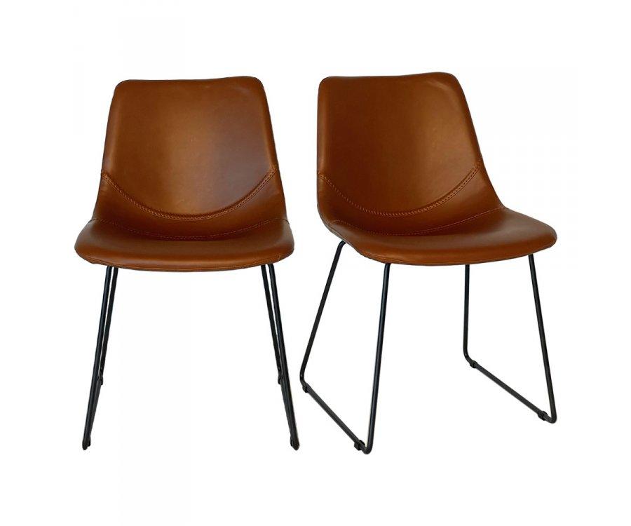Lot de 2 chaises scandinave-KOMA