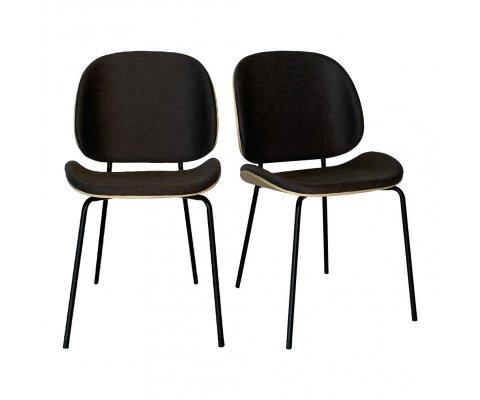Lot de 2 chaises scandinave-KARMA