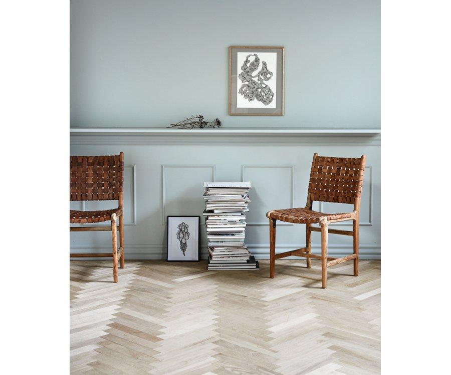Lot de 2 chaises vintage en cuir APENAS