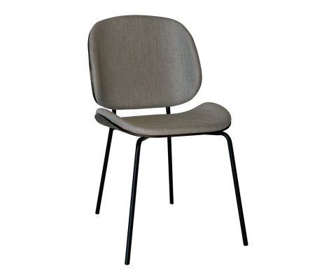 Chaise design scandinave wallnut-KARMA