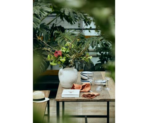 Table à manger en bois et métal 180x75cm ESO