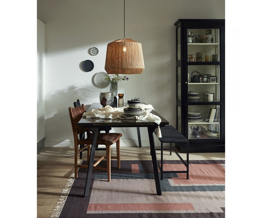 Banc minimaliste assises cuir véritable MENOS