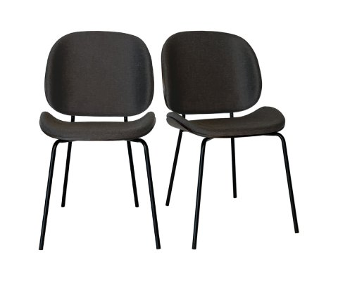 Lot de 2 chaises scandinave wallnut-KARMA