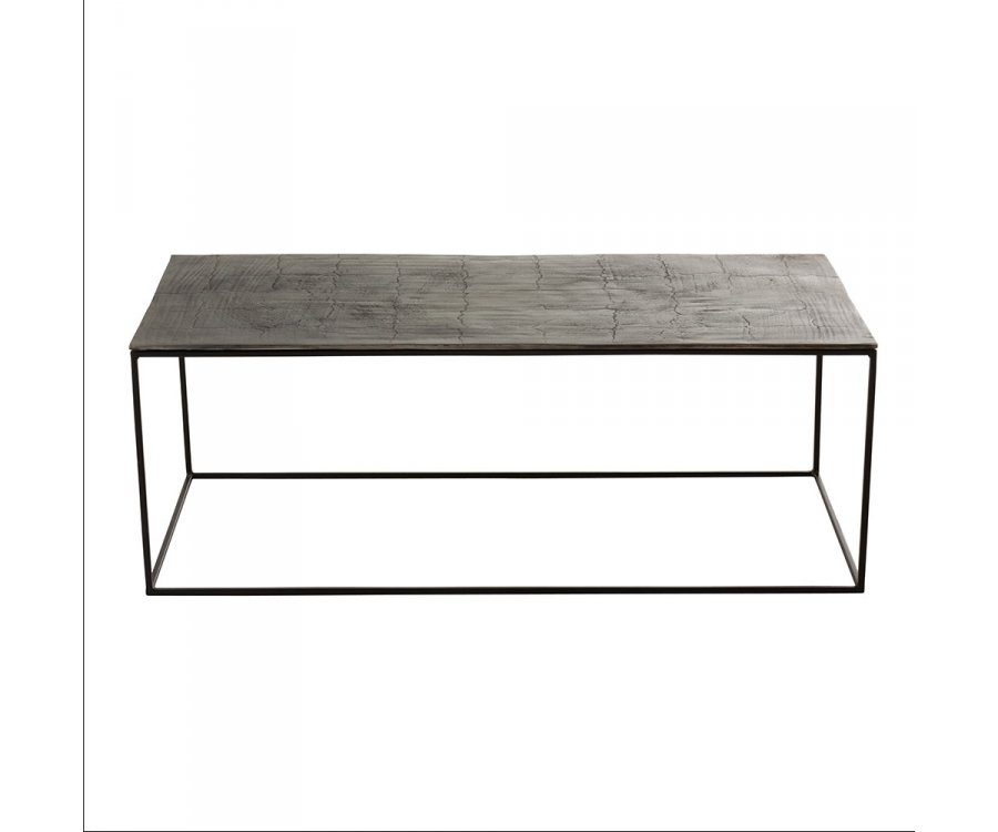 Table basse rectangulaire en métal QINA - J-line