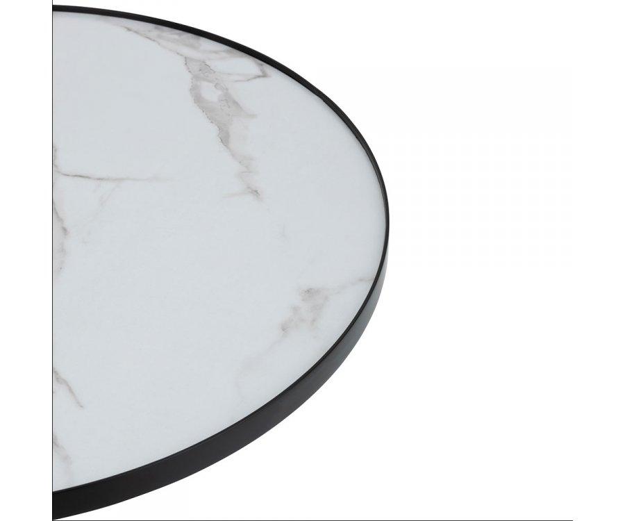 Table basse ronde effet marbre VALENTINO - J-line