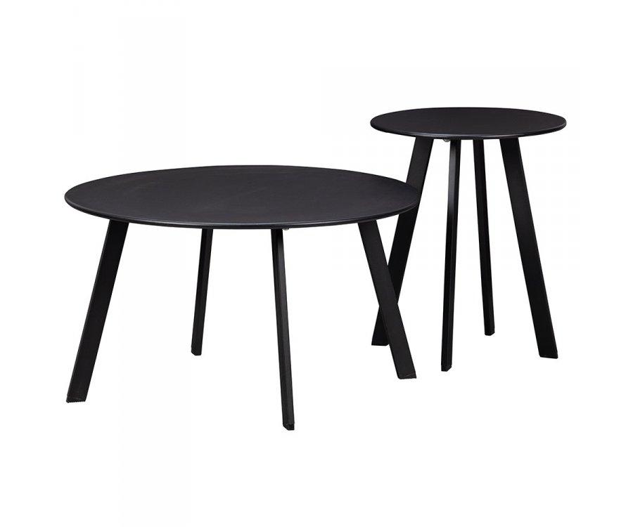 Table basse en métal noir SIPO