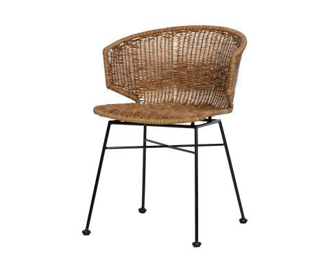 Chaise aspect rotin design intérieur extérieur SIDO
