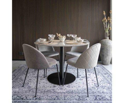 Chaise lounge velours scandinave-KOALA