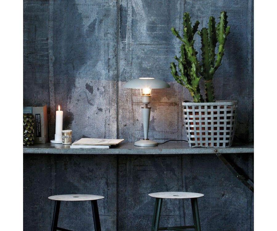 Lampe à poser métal gris vintage OPAL