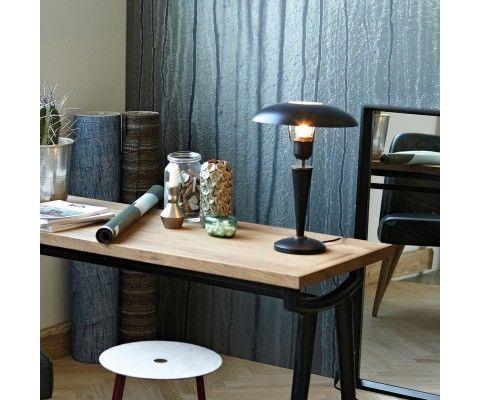 Lampe à poser métal noir vintage OPAL