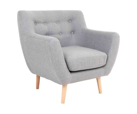 Fauteuil lounge tissu scandinave-DEGAY