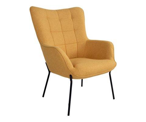 Fauteuil lounge molleton-DERAM