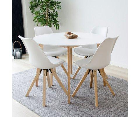 Table à manger ronde 105 cm scandinave-LINO