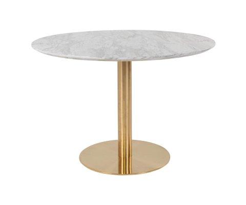 Table à manger ronde marbre 110 cm -SIENNA