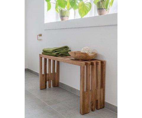 Banc en bois bohème 90x30 cm -HERCULANO