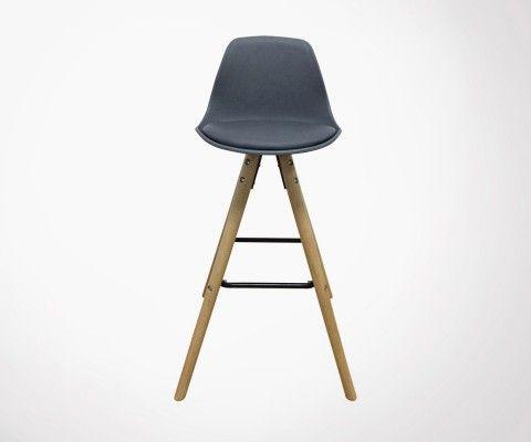 Chaise de bar style scandinave JUVA - couleurs au choix