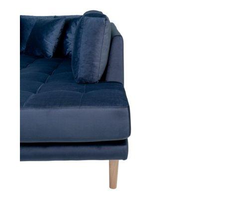 Canapé d'angle droit velours XXL-MILIME