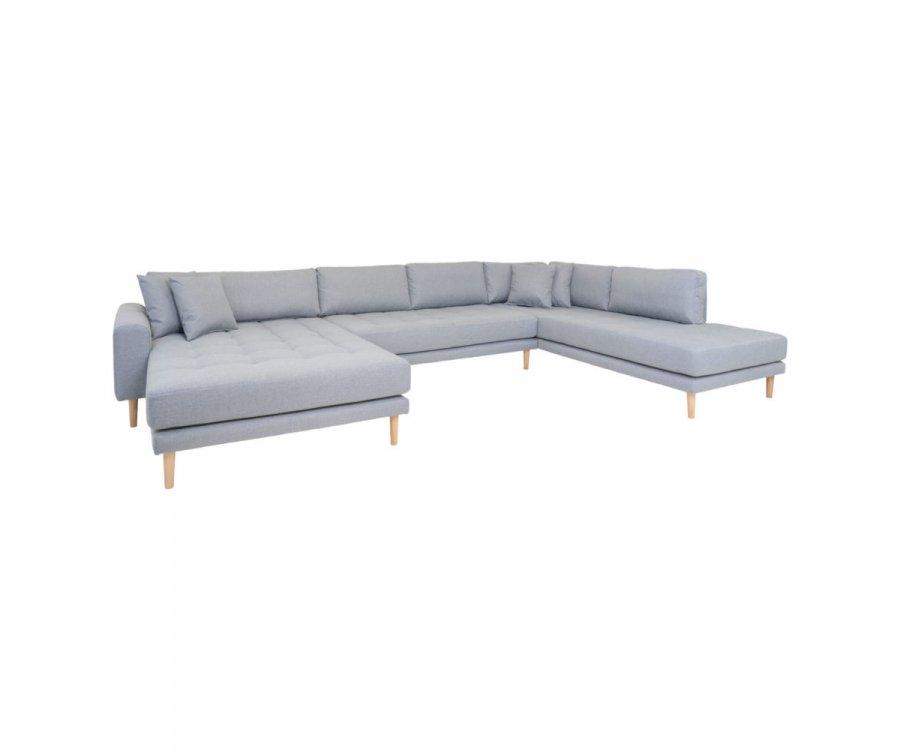 Canapé d'angle droit tissu XXL-MILIME
