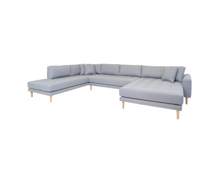 Canapé d'angle gauche tissu XXL-MILIME