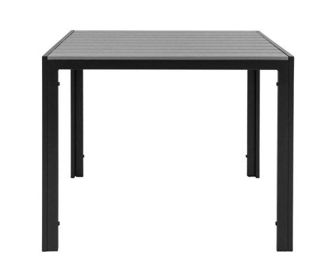 Table de jardin carrée 90x90cm aspect bois POUV