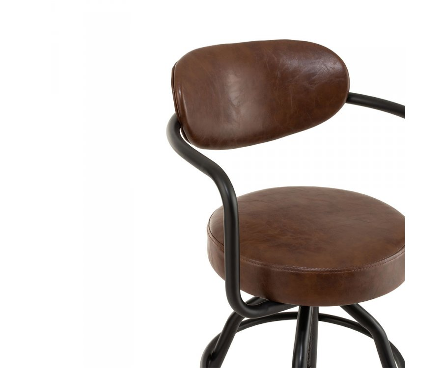 Chaise de bar métal industrielle-TOMMY