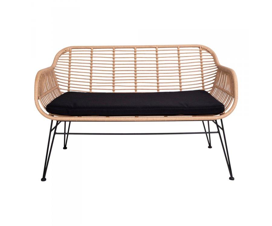Fauteuil en rotin lounge avec coussin-DERATE