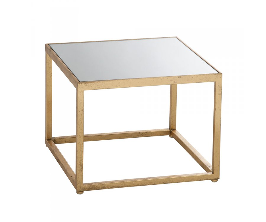 Table d'appoint verre et métal-GRECE