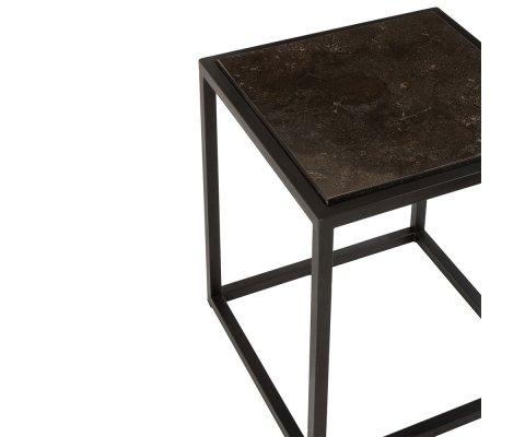 Lot de 2 tables d'appoint carrées en métal BONNIE