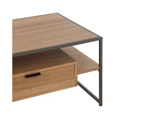 Table basse design en bois avec tiroir ZATI