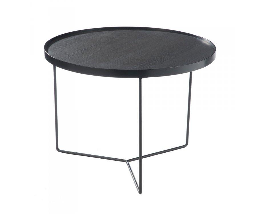 Table basse ronde en bois et métal FAFA