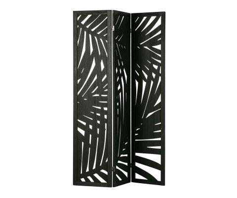 Paravent exotique en bois noir LEONARD