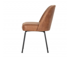 Lot 2 chaises crapaud cuir style rétro VOGUE - BePureHome