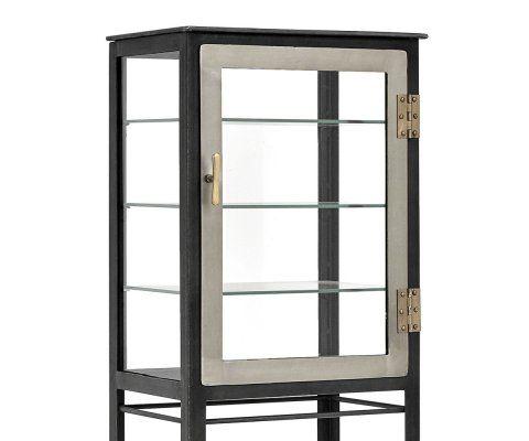 Grand cabinet 1 porte métal gris FISK - Nordal