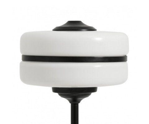 Lampe de table minimaliste verre blanc métal noir MARIANA - Nordal