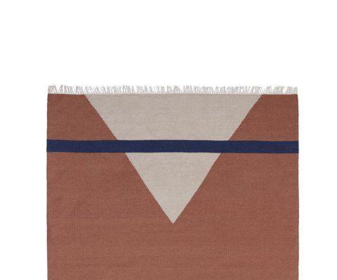 Tapis laine terracotta 160x240cm SHARP - Nordal