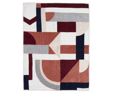 Tenture murale velours 130x170cm motifs patchwork PICAZO
