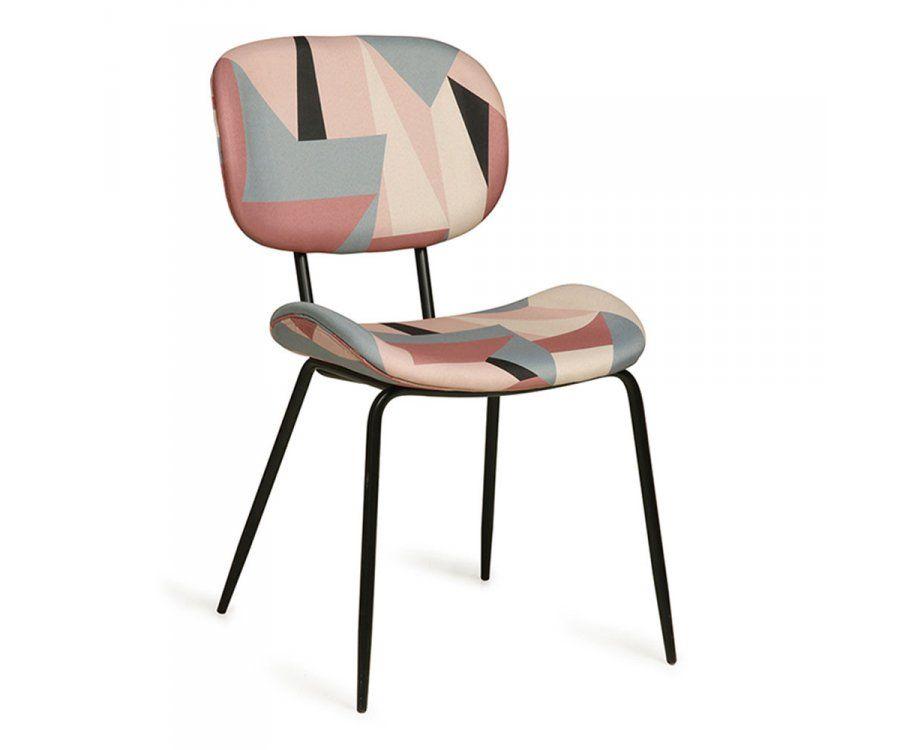 2 chaises tissu imprimé années 80 BERO - HK Living