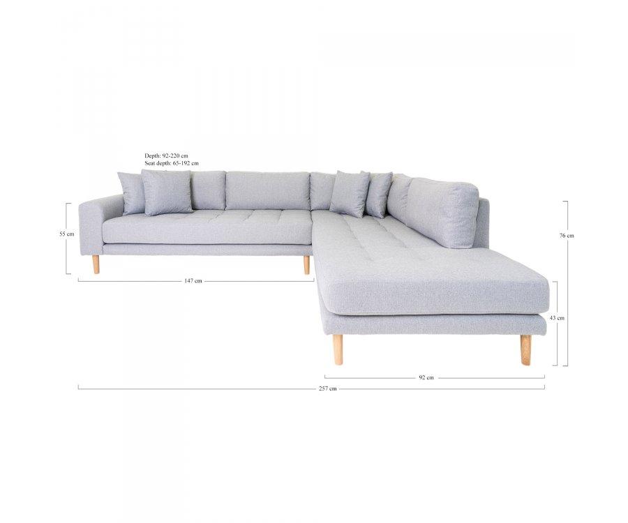 Grand canapé d'angle Design-KUZCO