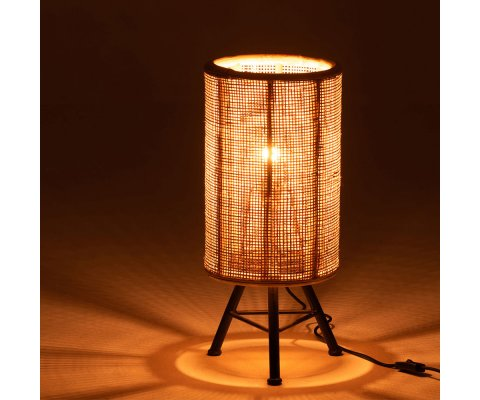 Lampe de chevet en rotin naturel OZIRIS