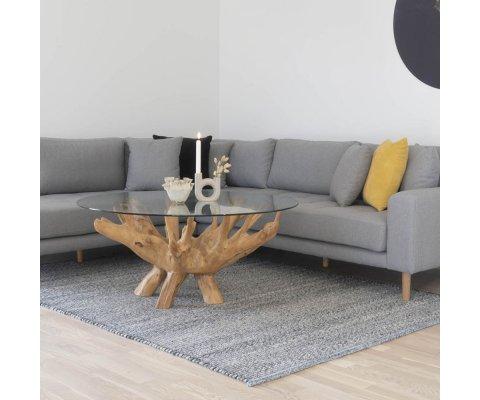 Table Design en bois et verre -ULLYS