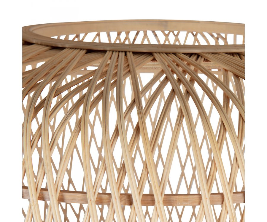 Lampe à poser ethnique en bambou DIATTA