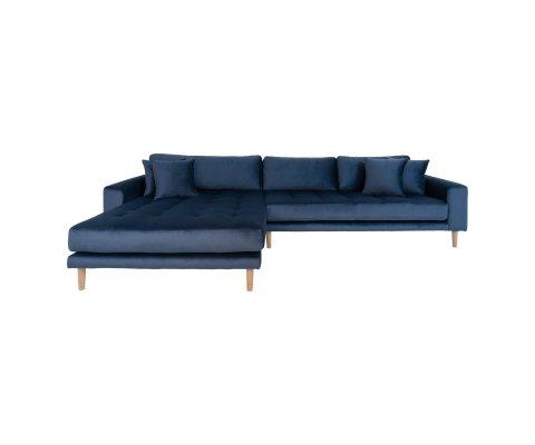 Canapé lounge avec coussins velours-MILIME