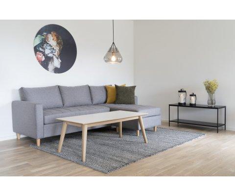 Canapé d'angle tissu scandinave-KIKA