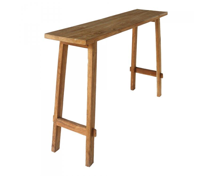 Table haute rectangulaire en bois POUJ