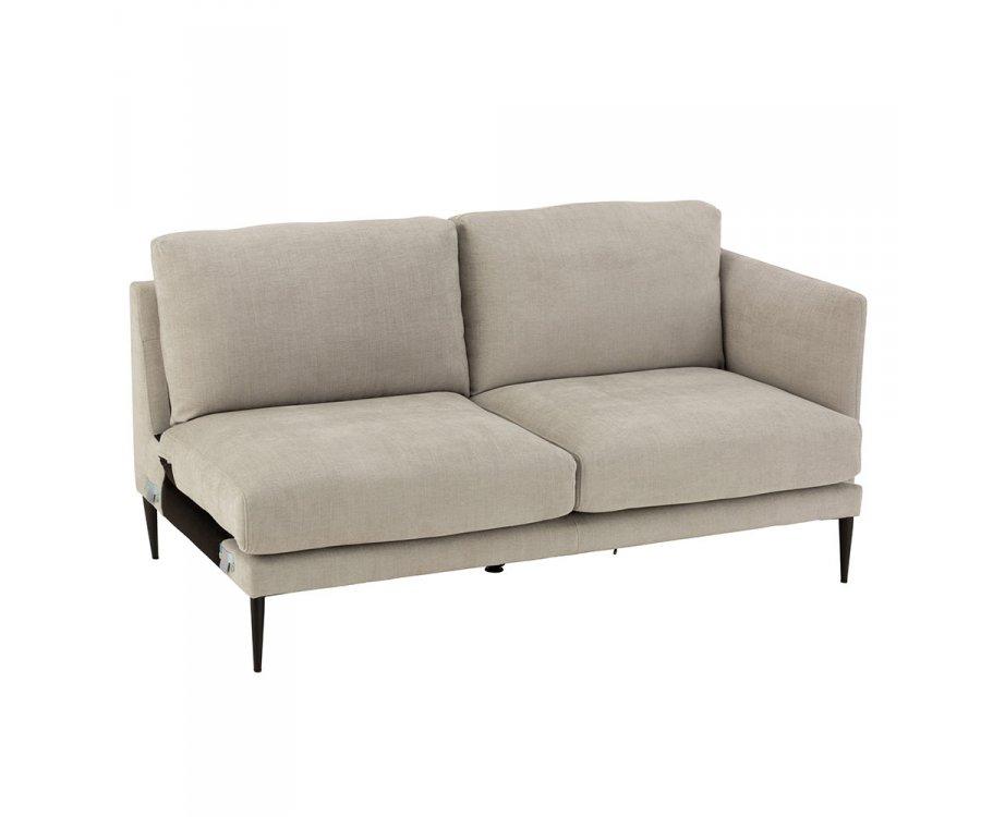 Section canapé en tissu angle droit DELO